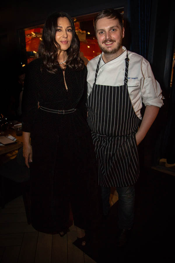 Monica Bellucci and Chef Luke Donato of Bacchanal