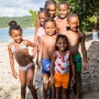 Children on the beach - Canouan, St. Vincent and the Grenadines