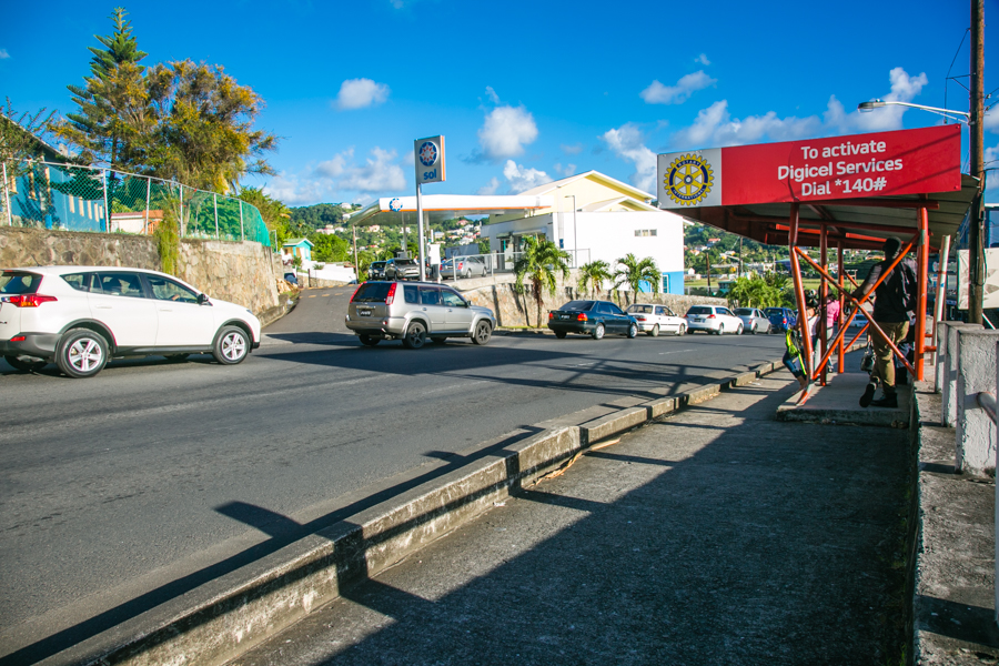 Bus stop - Kingstown, St. Vincent and the Grenadines